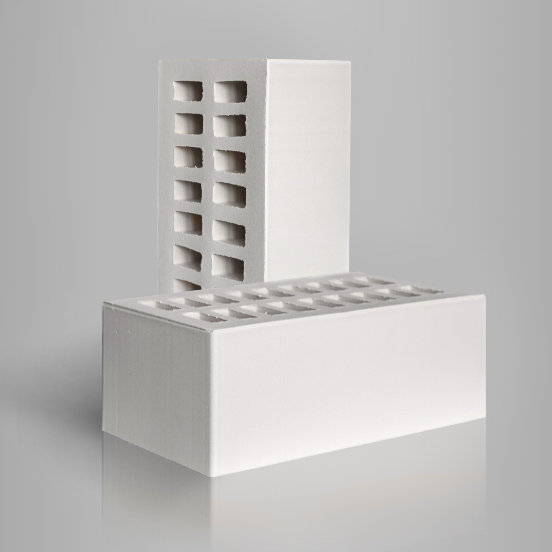 Кирпич керамический лицевой пустотелый 1.4НФ Белый
