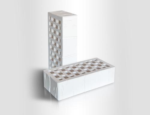 Кирпич керамический лицевой пустотелый 1НФ CORTEX Белый