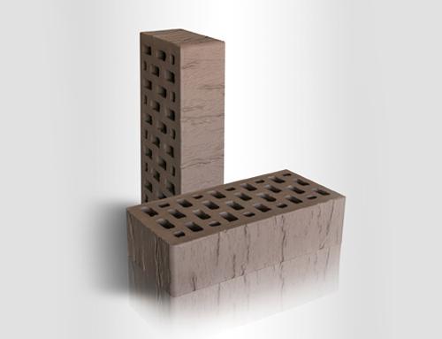 Кирпич керамический лицевой пустотелый 1НФ CORTEX Коричневый